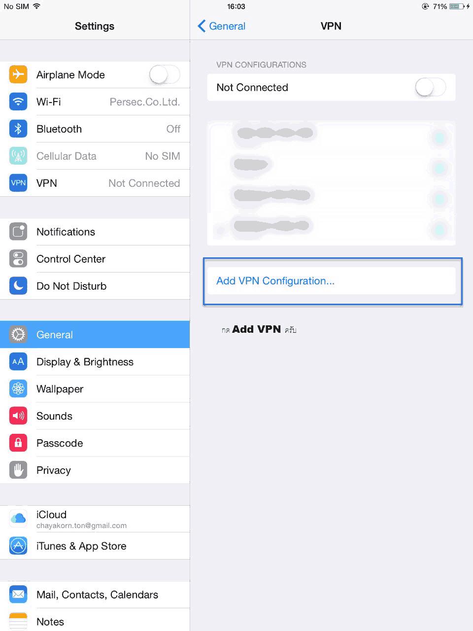 Set IPSEC for IOS Iphone Ipad 2