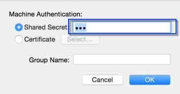 Set IPSec for Mac OS X