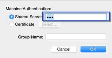 Set IPSec for Mac OS X