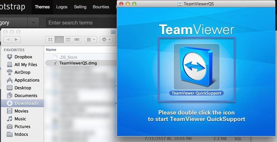 install teamviewer สำหรับ MAC OS X