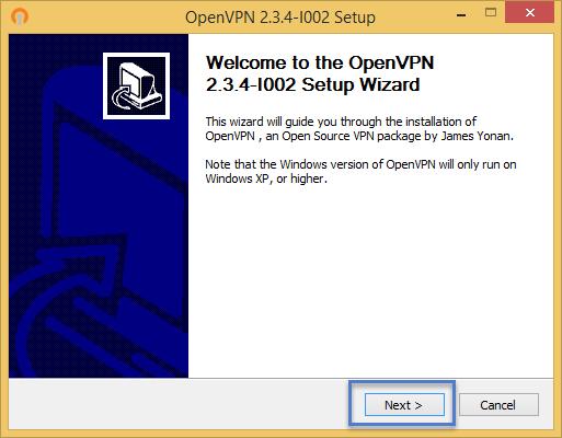 ขั้นตอนการติดตั้งโปรแกรม OpenVPN Installer ขั้นตอนที่ 2