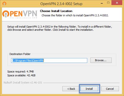 ขั้นตอนการติดตั้งโปรแกรม OpenVPN Installer ขั้นตอนที่ 5