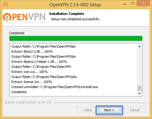 ขั้นตอนการติดตั้งโปรแกรม OpenVPN Installer ขั้นตอนที่ 6