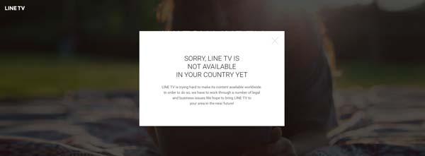 ดู LINE TV ไม่ได้